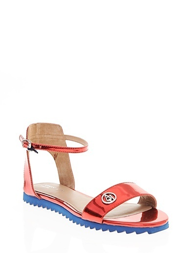 Armani Jeans Sandalet Kırmızı